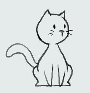 learn how to draw cartoon cute kitty cat step by step video wallpaper - Simple Cartoon Pics