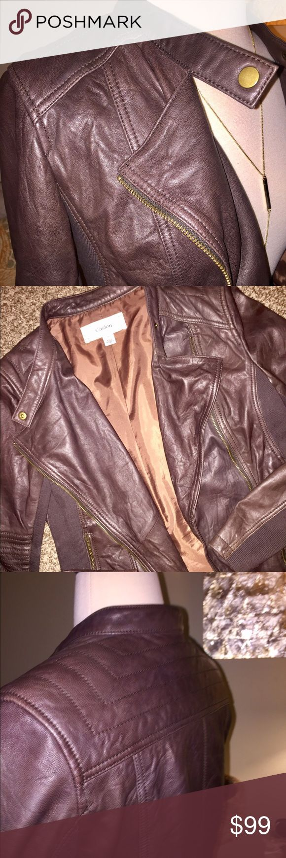 XS Premium Lambskin Leather Jacket XS Premium 100% lambskin leather jacket with lining. This jacket is incredibly soft and tailored well, but It's sadly too small for me. Bought at Nordstrom last winter for $300.00 Caslon Jackets & Coats