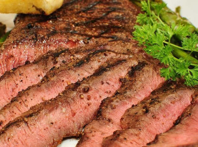 The Flat Iron is called by some, the best cut of beef. The near perfect marbling of fat to meat makes it tender and flavorful.