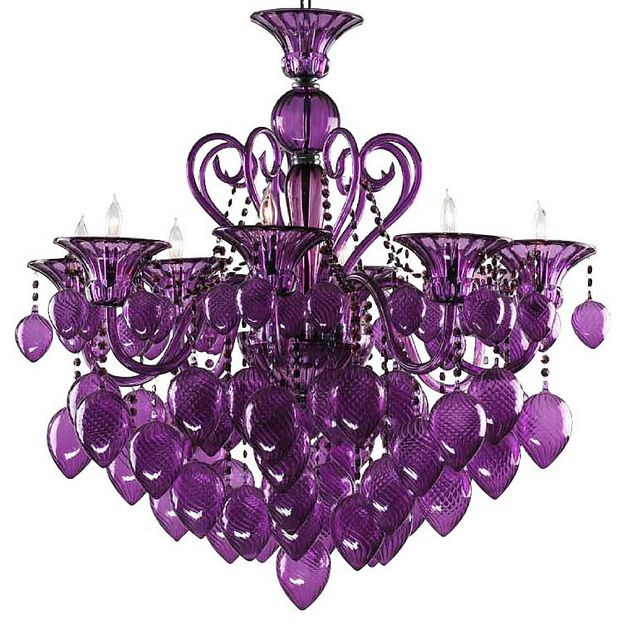 PURPLE Murano Glass CHANDELIER  I guess I might have to start a purple board!