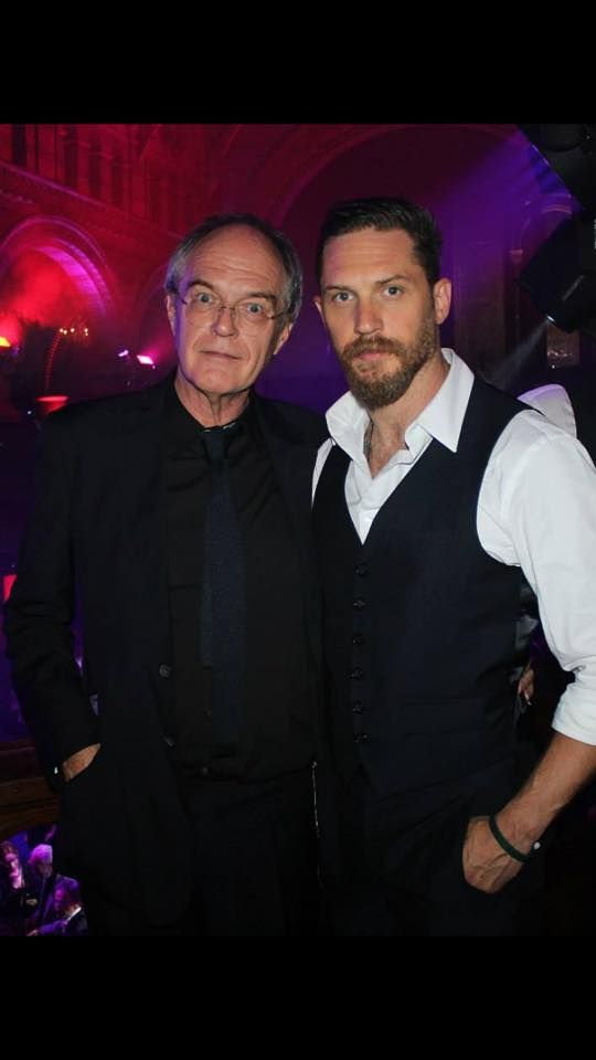 Tom Hardy and his dad Chips at the Legend Premiere after party - Sept. 3rd 2015
