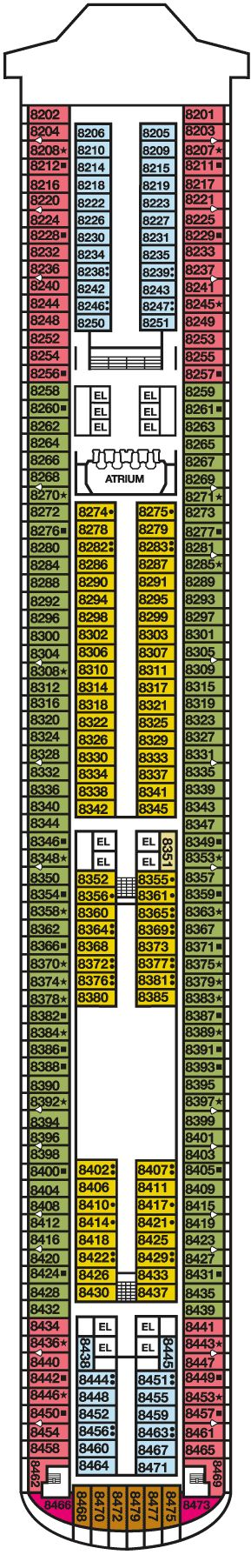 100 Carnival Inspiration Main Deck Plan