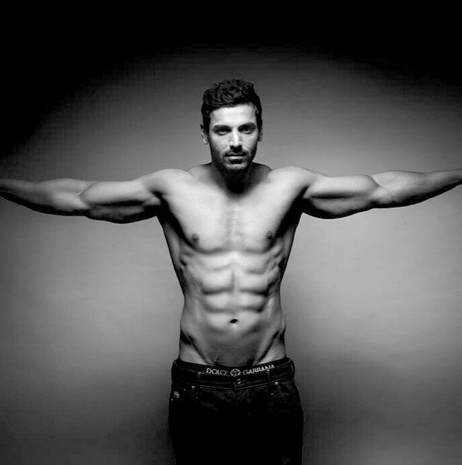 John Abraham flashing his #muscles. #Bollywood #Fashion #Style #Handsome #Fitness #Health #Instagram