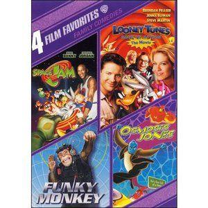 4 Film Favorites: Family Comedies: Space Jam / Looney Tunes Back In Action / Funky Monkey / Osmosis Jones (2-Disc) (Full Frame)