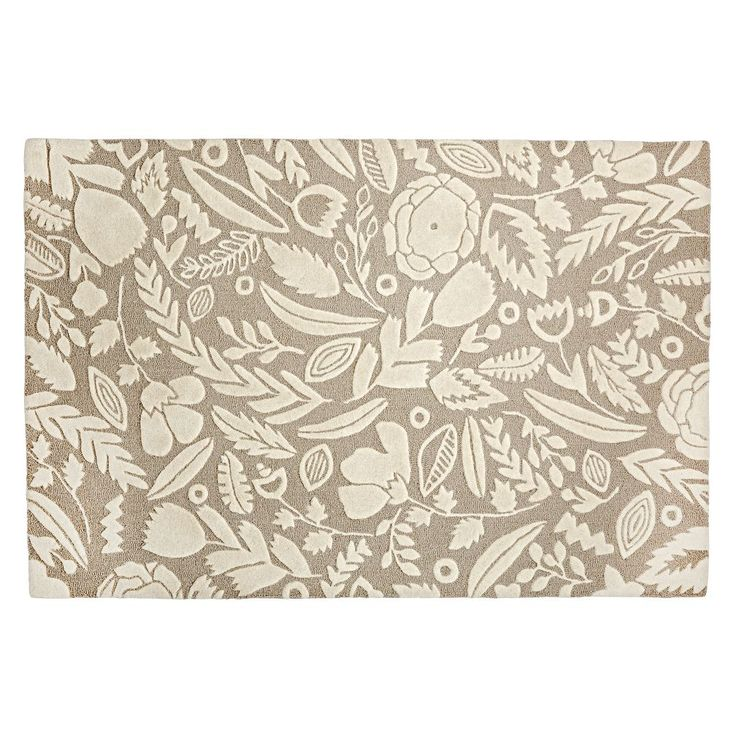 Shop Grey Forest Floor Kids Rug.  A variety of leaves and flowers create the elegant floral pattern on our Forest Floor Rug.  Plus, it was designed just for us by Sarah York.