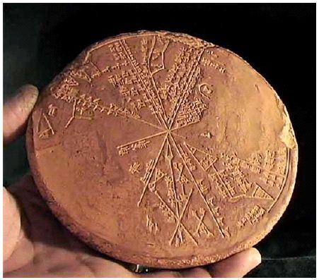 leradr: mapa estelar suméria de 3000 aC Ninive