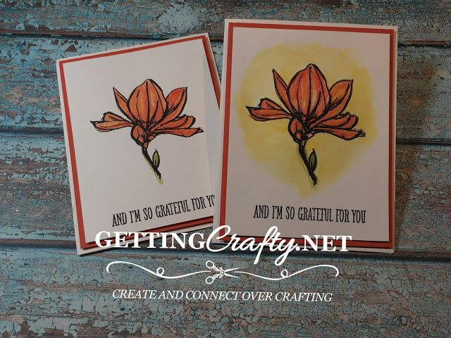 Getting Crafty with Jamie: Grateful for You (and Remarkable Flowers) handmade card with this simple WOW Technique, Retiring Remarkable You stamp set and colors and Video Tutorial on my blog www.GettingCrafty.net