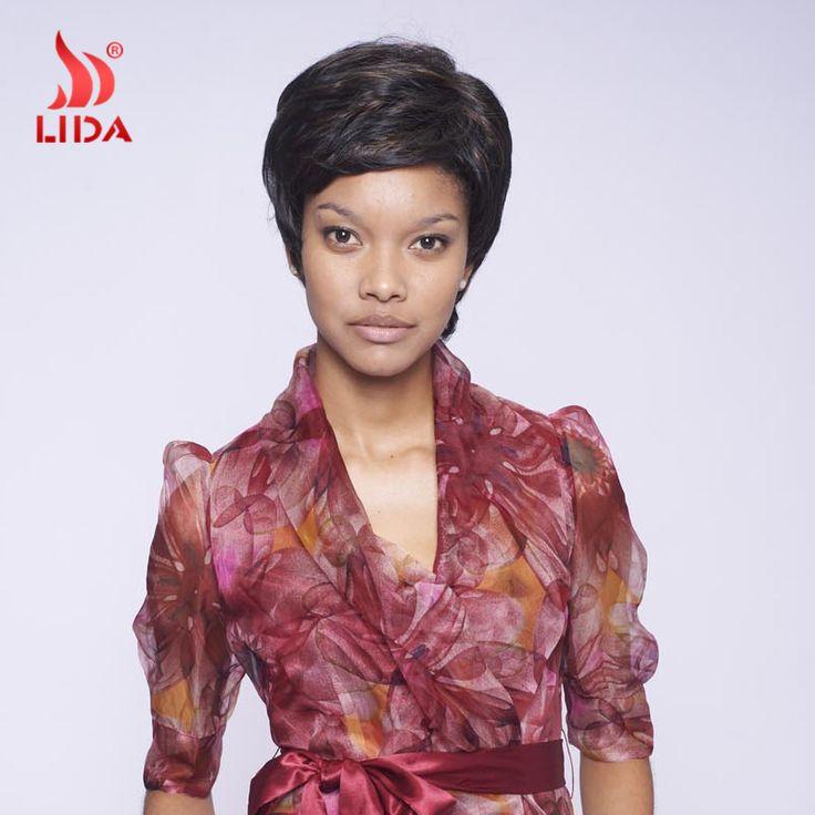 Newarrival pelucas sintéticas negro Women Color F1B / 30 corto pelucas sintéticas 100% Kanekalon pelucas sintéticas pelucas del afroamericano