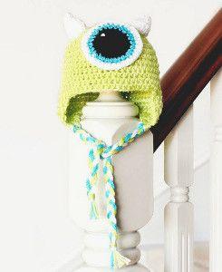 Monsters Inc. Crochet Baby Hat - for Disney lovers!