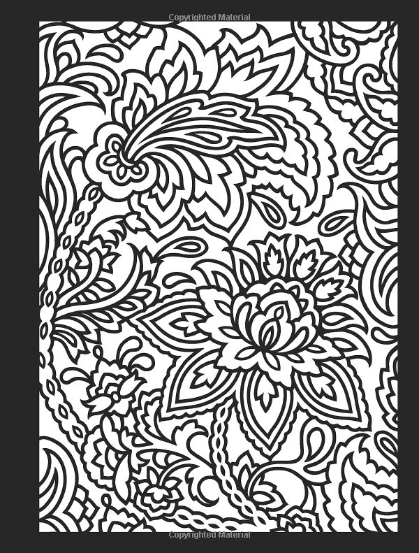 Paisley Designs Stained Glass Coloring Book Dover Design Marty