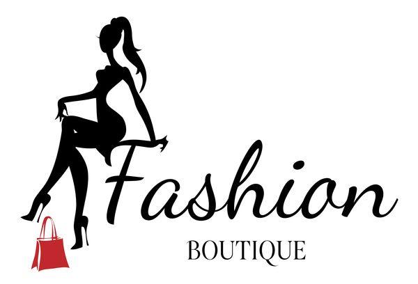 Fond de boutique de mode avec le vecteur de belle fille 01