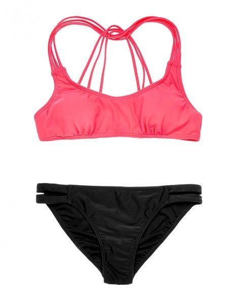 #Fashion  Summer Style : Pink Racerback Bikini Maisy
