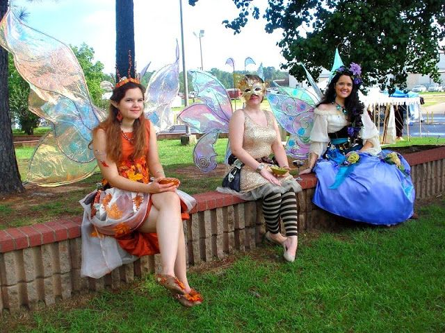 Queen Magnolia Fawn and the Westwood Fairies at the Texarkana Renaissance  Faire