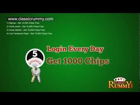 You can Play FREE & Win Real Cash in Classic Rummy!!! Here is how ... Join Classic Rummy and Get 56,000 Promotional Chips FREE. Play Free Games and Win 44,000 Promo Chips more.. Convert 1,00,000 Promo Chips to Rs.100 https://www.classicrummy.com/online-rummy-promotions?link_name=CR-12