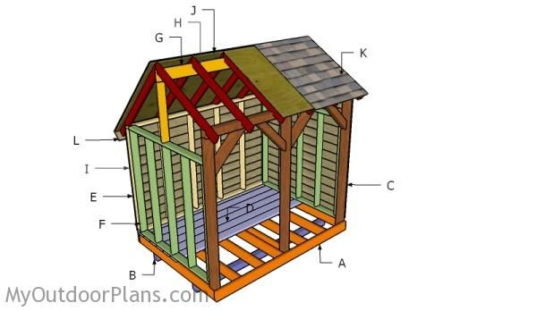 6x8 Wood Shed Roof Plans | MyOutdoorPlans | Free Woodworking Plans and Projects, DIY Shed, Wooden Playhouse, Pergola, Bbq