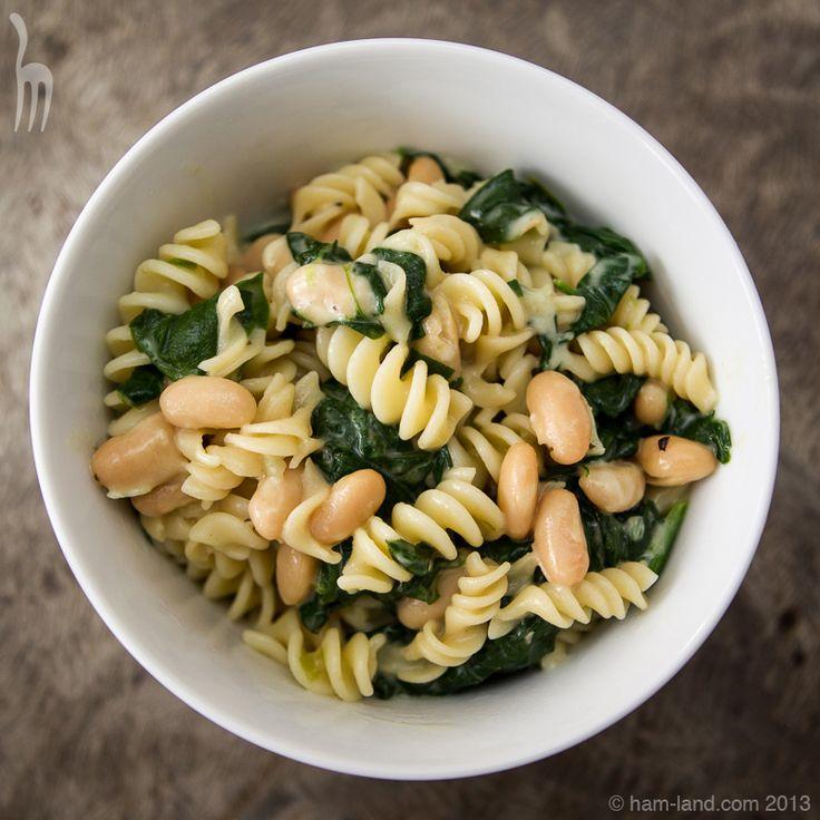 Broccoli Rabe, White Bean & Fontina Pasta | ham-land.com