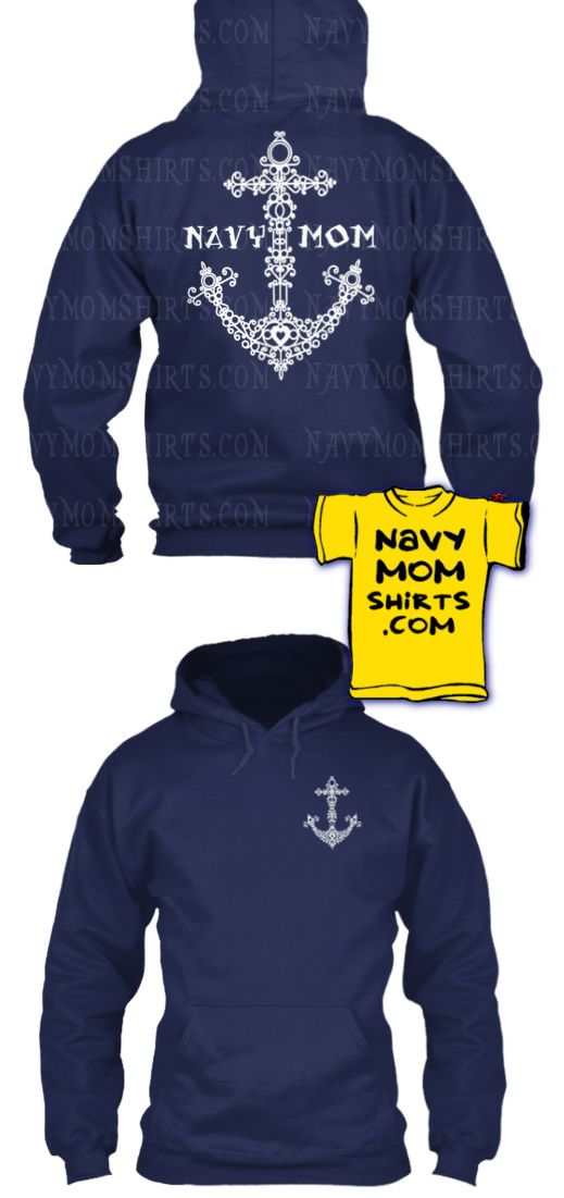 LIMITED TIME ONLY! Vintage Doodle Navy Mom Anchor Shirt with Art on Front and Back! Shirts & Hoodies by #NavyMomShirts  BOOKMARK this Page: http://art4mil.com/NavyShirts