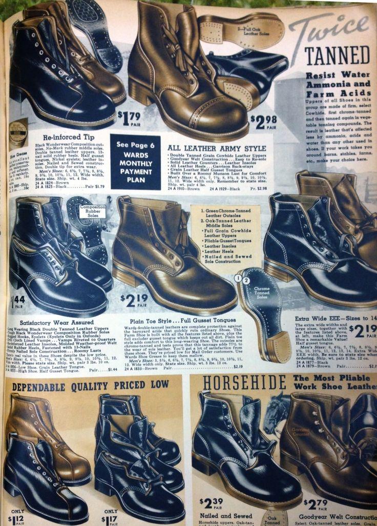 1937 men's work boots