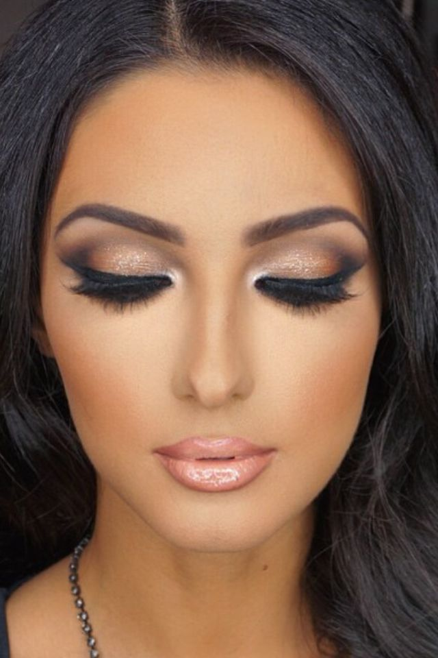 Bridal Makeup Tutorial For Brown Eyes : 25+ best Make up ideas on Pinterest Makeup stuff, Prom ...