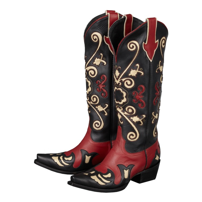 Margaret in Red & Black - Lane Boots