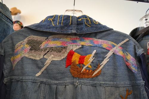 So inspired by this customised, hand embroidered Viking ship denim shirt from Golyester in Los Angeles Subscribers can see more vintage denim inspiration here