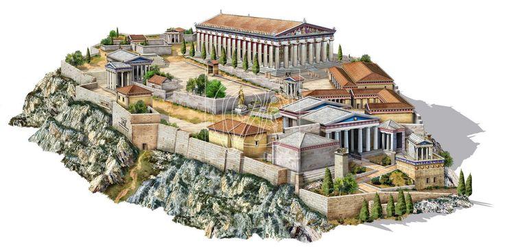 Questa immagine rappresenta Atene in tutto il suo splendore o come pensiamo che fosse