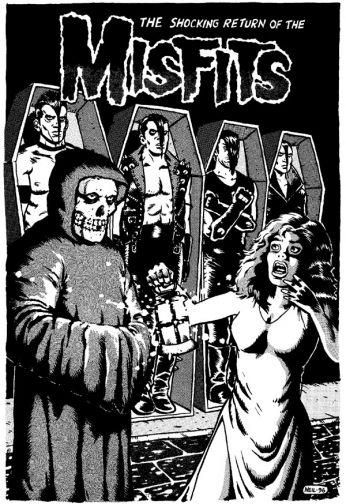 Capa do LP da banda de Horror Punk, Misfits, lançado em 1997.