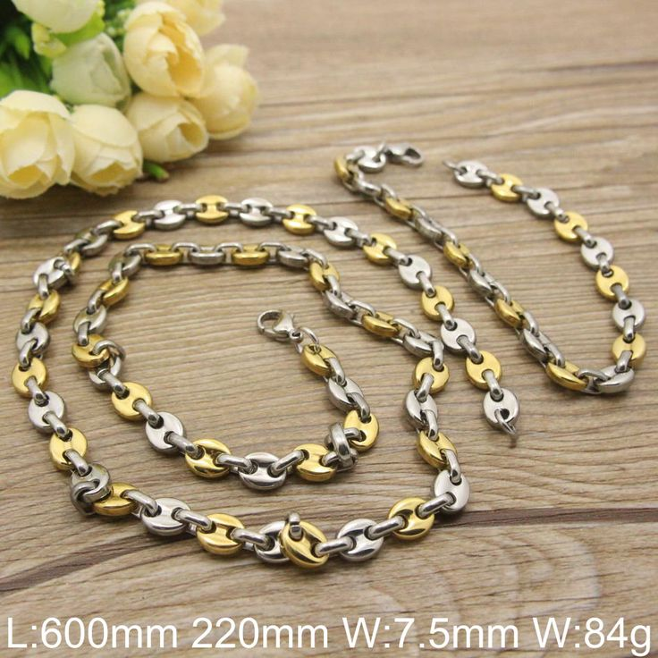 Find More Jewelry Sets Information about HOT Stainless Steel fashion Jewelry gold silver  Color  Bracelet +Necklace sets for women SGEABSDC,High Quality bracelet cuff,China set pencil Suppliers, Cheap bracelet party from JOYAS STAINLESS STEEL JEWELRY on Aliexpress.com