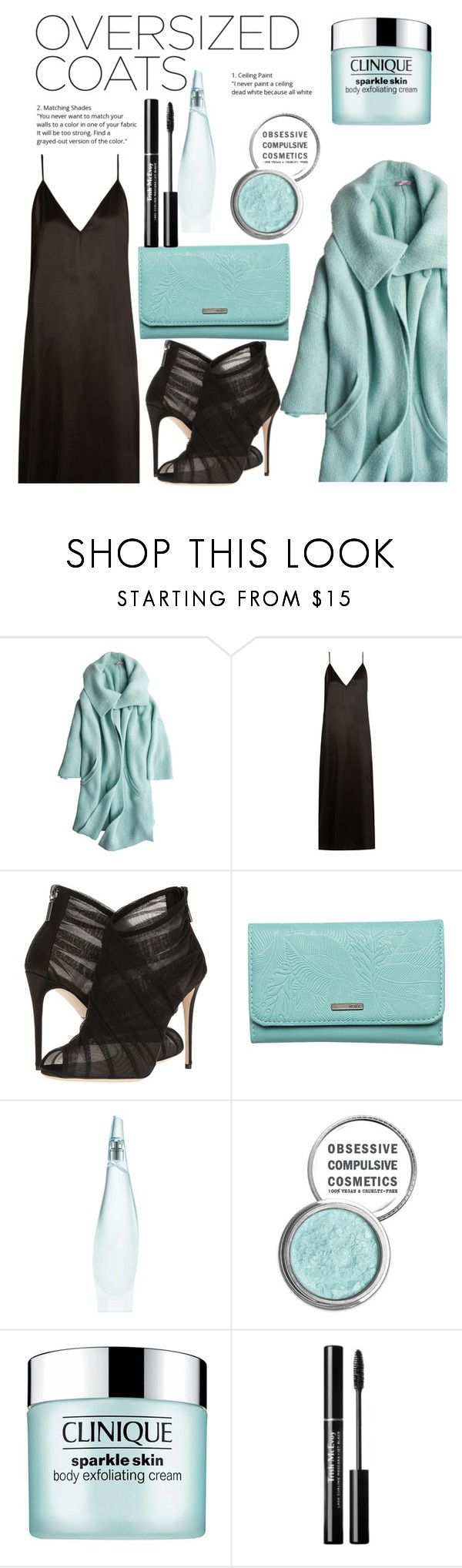 """""""Oversized Jackets"""" by anna-belair ❤ liked on Polyvore featuring Calypso St. Barth, Raey, Dolce&Gabbana, Roxy, Donna Karan, Obsessive Compulsive Cosmetics and Clinique"""
