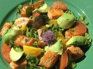 Ensalada de salmón y verdolaga