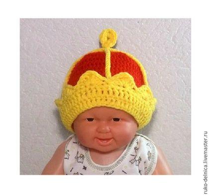 Для новорожденных, ручной работы. Ярмарка Мастеров - ручная работа. Купить шапочка корона для фотосессии новорожденных (фотосессия  шапка). Handmade.