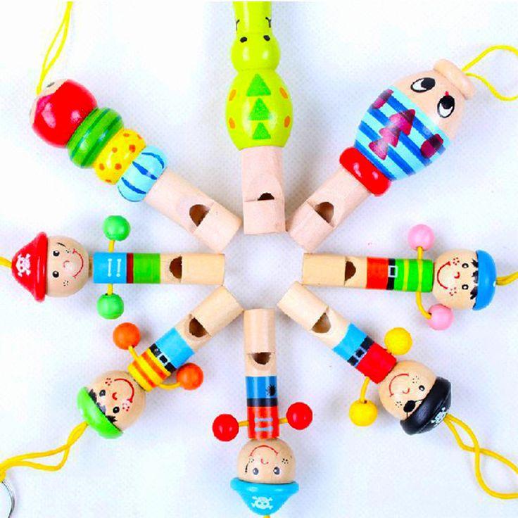 Aliexpress.com: Comprar 1 unid niño de dibujos animados juguetes de madera del silbido colorido Mini instrumentos musicales desarrollo juguetes música para el bebé de silbando tubos fiable proveedores en Huyu Import & Export Co., Ltd.