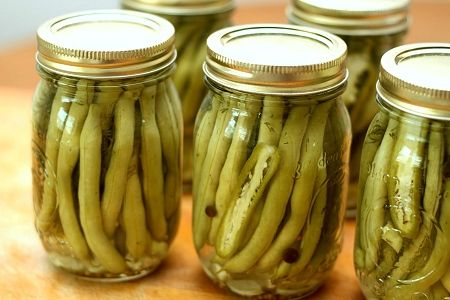 dilly beans! i used to sneak into my grandma's pantry & swipe jars of these when i was little cuz i could just never get enough! I'm going to have to make these this year!