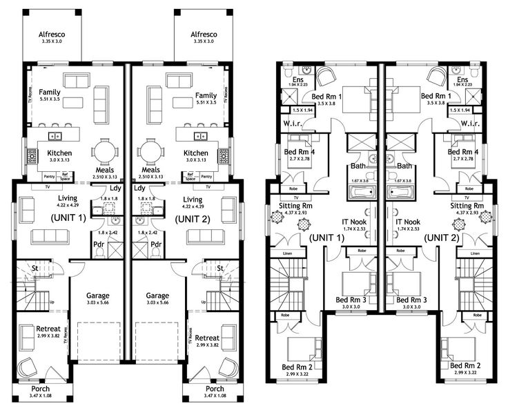 Richmond 49.9 - Duplex Level - Floorplan by Kurmond Homes - New Home Builders Sydney NSW