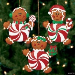 Decorate your home this Christmas with the most adorable Gingerbread Man Christmas Themed Decorations. decorate you Christmas Tree, the house...