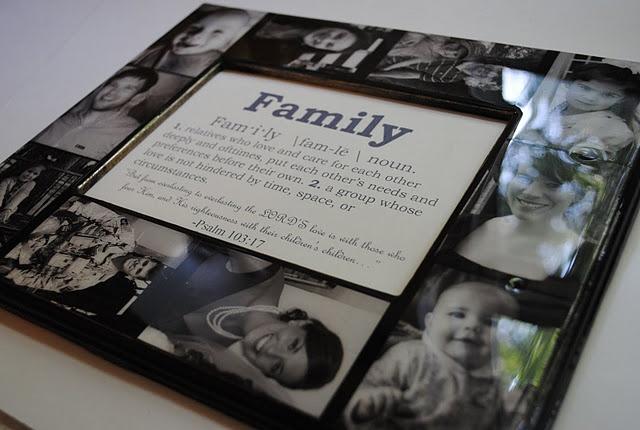 Keepsake Family Photo Collage Frame Tutorial: Keepsake Families, Crafts Ideas, Families Frames, Gifts Ideas, Beautiful Gifts, Frames Tutorials, Families Photos Collage, Pictures Frames, Photos Collage Frames