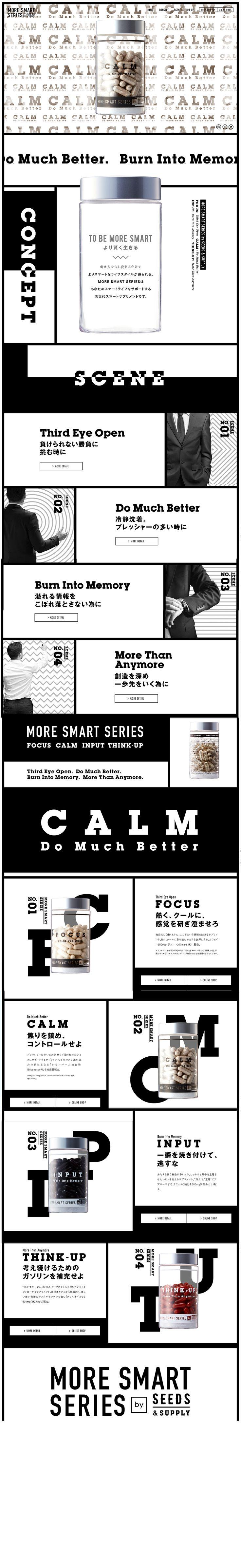 MORE SMART SERIES モアスマートシリーズ WEBデザイナーさん必見!ランディングページのデザイン参考に(かっこいい系)