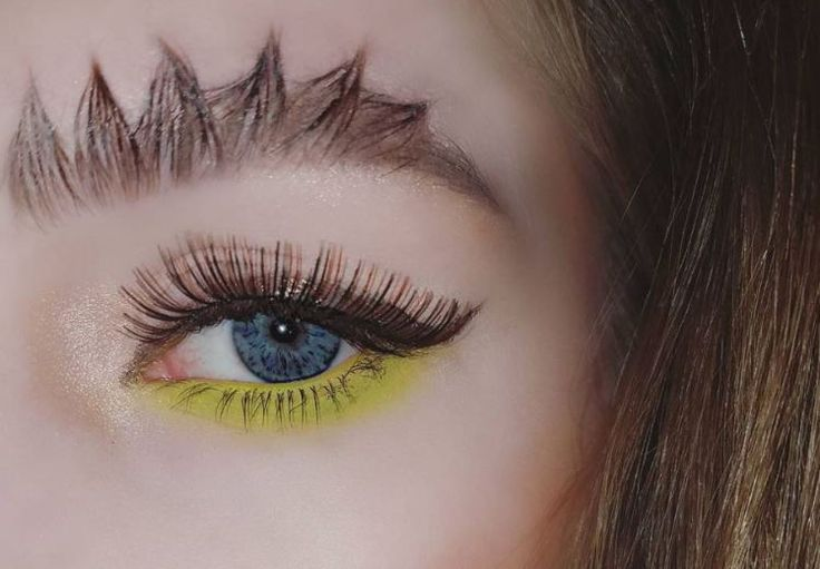 We've had barbed wire brows and feather brows.  Now in the world of turning the bits of hair above your eyes into fancy designs, meet dinosaur brows.