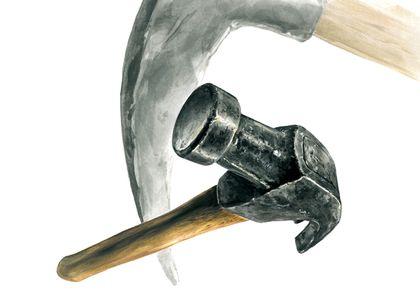 이번 기초디자인 개체는 망치입니다.망치는 크게 금속 재질의 머리 부분과 나무 재질의 손...