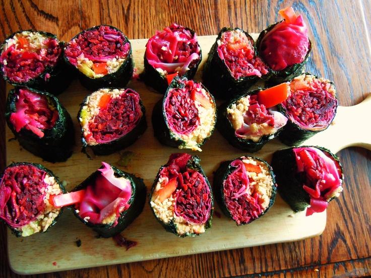 Nori rolls!  An absolute work of edible art.
