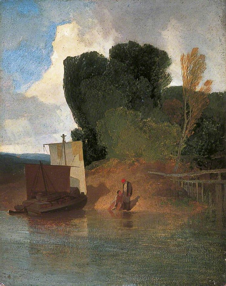 ca. 1809 On the River Yare   oil on wood