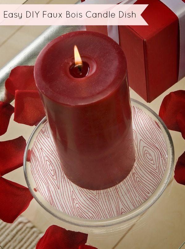 Faux Boise Candle Base & Candle