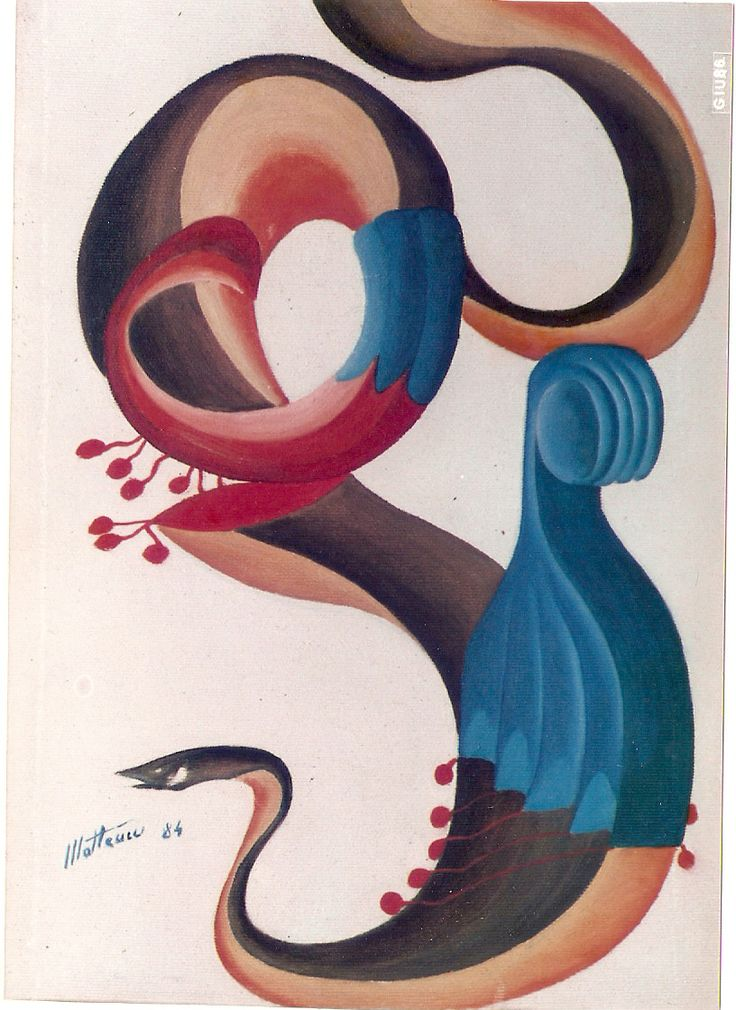 """fork, knife and snake"", oil on canvas, 1984"