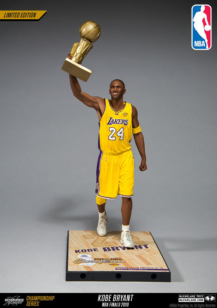 McFarlane Toys NBA Kobe Bryant Limited Edition Championship Series - NBA Finals 2010 (Home yellow #24 jersey)