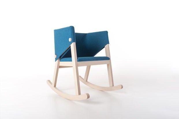 Giancarlo Cutello cria peça para Formabilio: a cadeira de balanço do século 21.