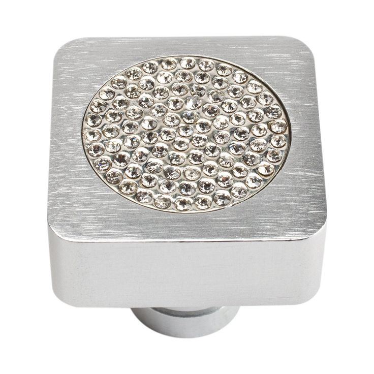 Atlas Homewares 3193-MC Boutique Crystal Collection Small Inset Crystal Knob - Knobs and Hardware