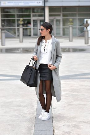 tenue tendance 2016 jupe baslets collants blog mode