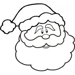 Dibujo, Santa face and Coloring pages on Pinterest
