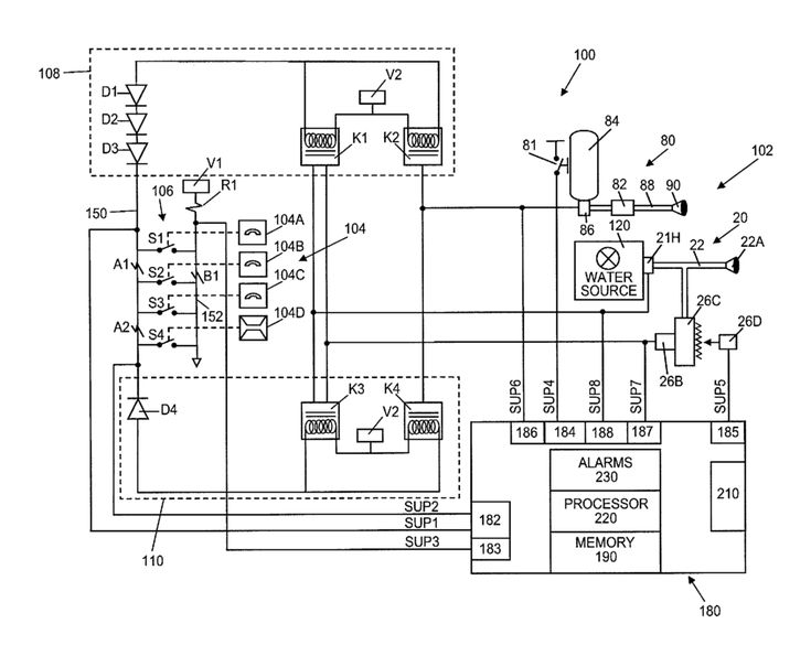 patent us8378834 kitchen hood assembly with fire