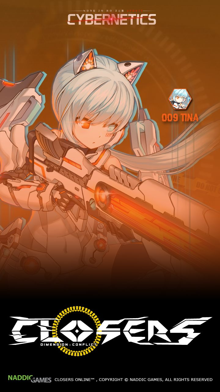 008 Tina Closers Phone Wallpaper Cybernetics [B] Resolution 720 x 1280